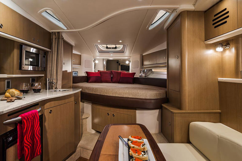 Interiors of luxury catamaran